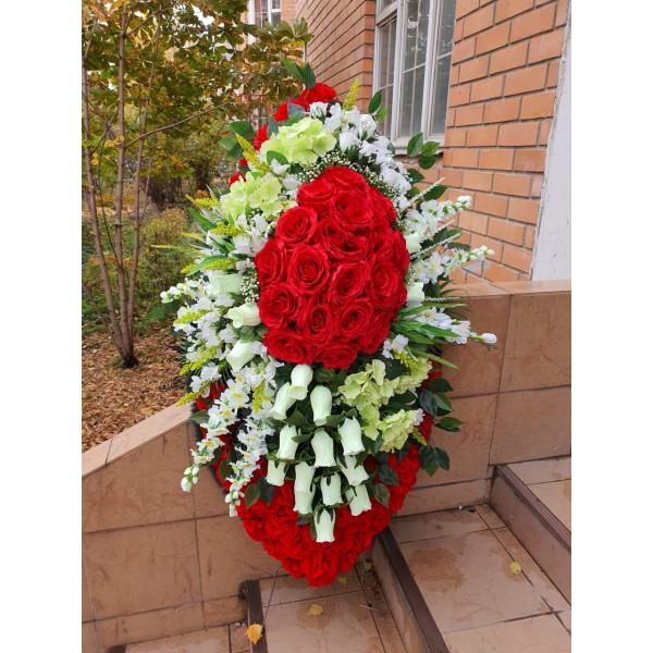 Венок из искусственных цветов АВТОРСКИЙ ВИА-098