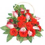корзина из искусственных цветов NEW-01