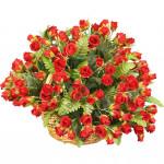 корзина из искусственных цветов NEW-02