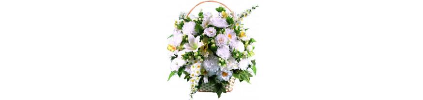 Купить ритуальные корзины из искусственных цветов