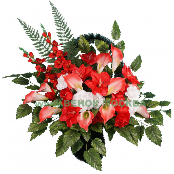 корзина из искусственных цветов АВТОРСКАЯ КРА-03