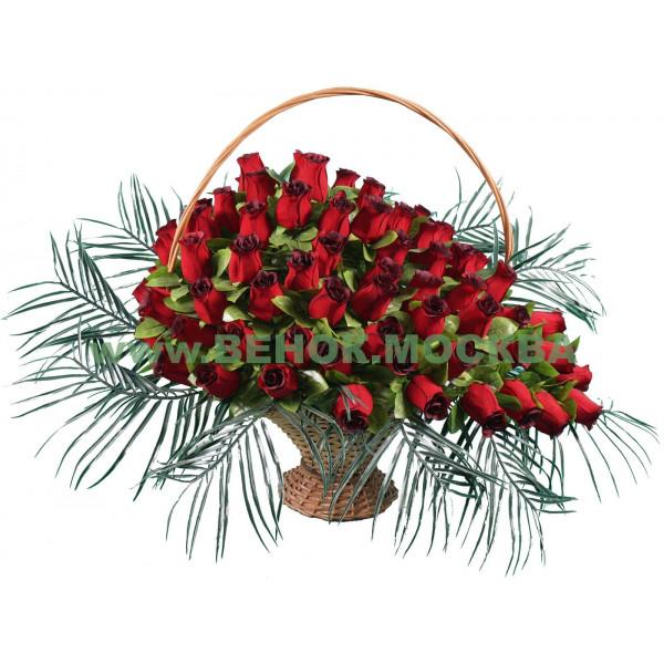 корзина из искусственных цветов АВТОРСКАЯ КРА-05