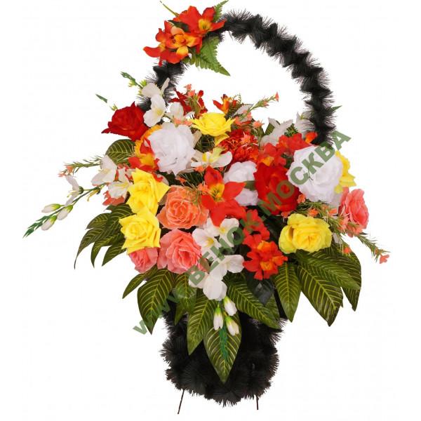 корзины из искусственных цветов ЭЛИТ КРЭ-13