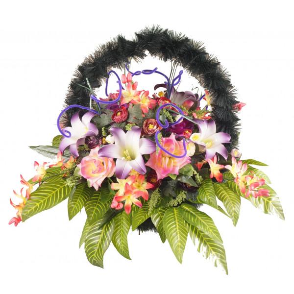 корзина из искусственных цветов ЗАКАЗ КРЗ-07