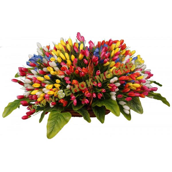 корзины из искусственных цветов ЭЛИТ КРЭ-15