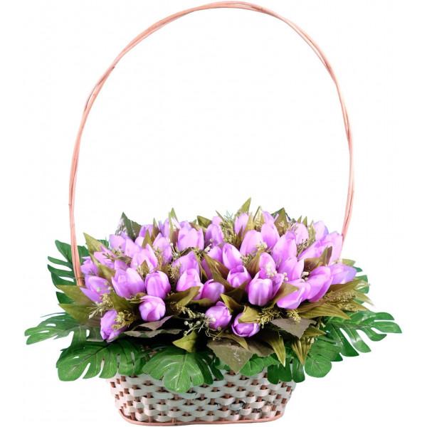 корзина из искусственных цветов ЭЛИТ КРЭ-01
