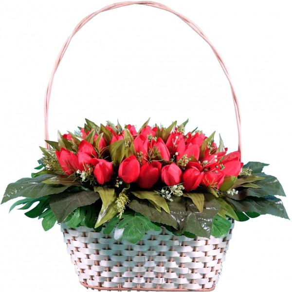 корзина из искусственных цветов ЭЛИТ КРЭ-05