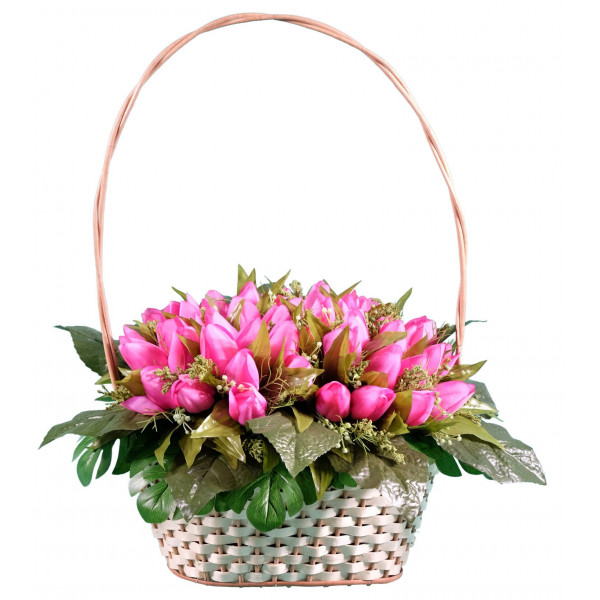 корзина из искусственных цветов ЭЛИТ КРЭ-06