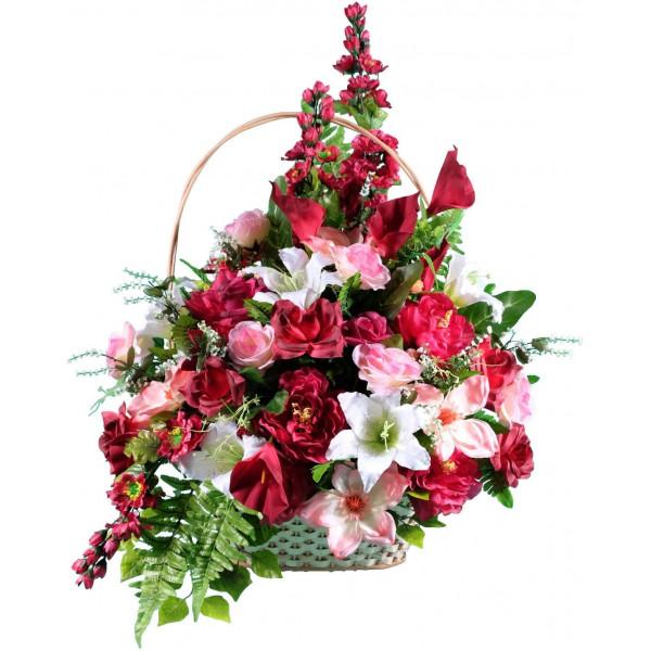 корзины из искусственных цветов ЭЛИТ КРЭ-08
