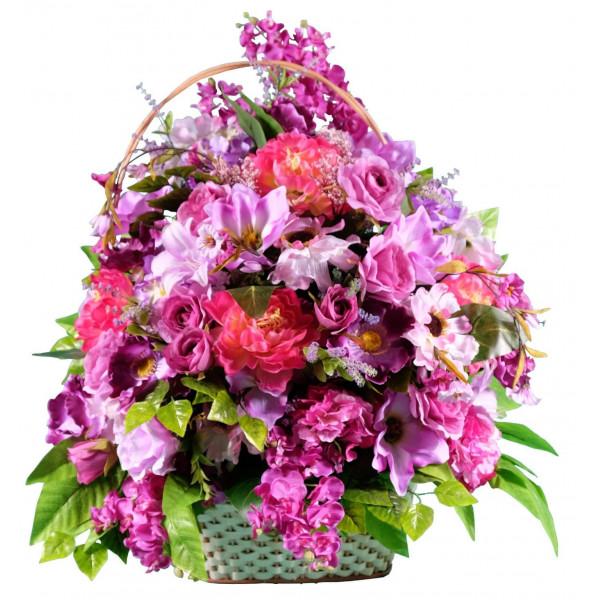 корзины из искусственных цветов ЭЛИТ КРЭ-11