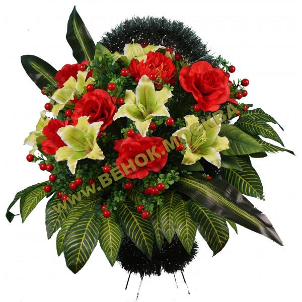 Корзина из искусственных цветов ЭЛИТНАЯ КРЭ-27