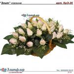 корзина из искусственных цветов ЭЛИТ КрЭ-26