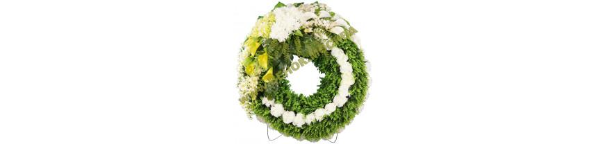 Европейские круглые венки из искусственных цветов
