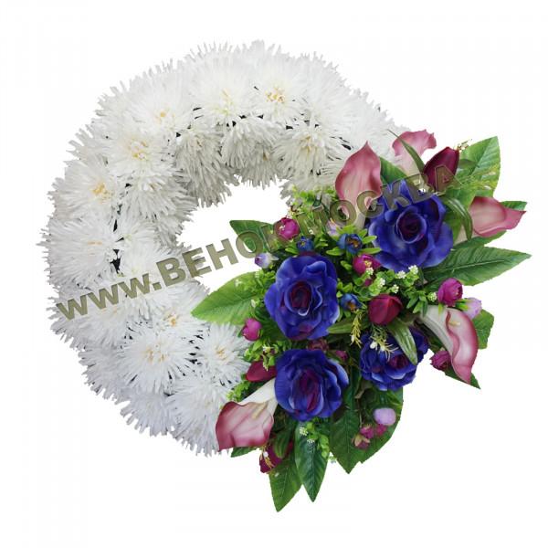 венок из искусственных цветов ЕВРОПЕЙСКИЙ ВИК-11