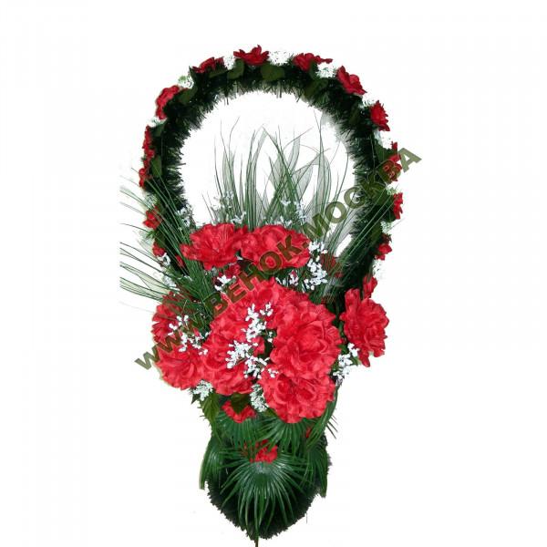 корзина из искусственных цветов СТАНДАРТНАЯ КРС-24