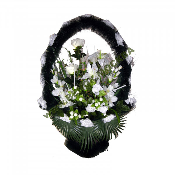 корзина из искусственных цветов ЗАКАЗ КРЗ-09