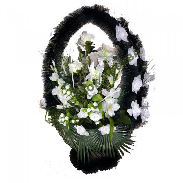 корзина из искусственных цветов ЗАКАЗ КРЗ-10