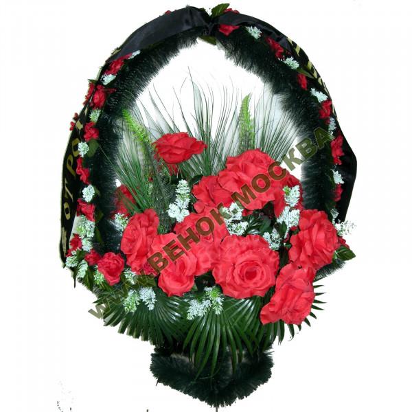 корзина из искусственных цветов ЗАКАЗ КРЗ-11