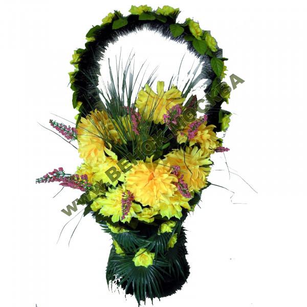 корзина из искусственных цветов СТАНДАРТНАЯ КРС-05