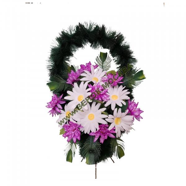 корзина из искусственных цветов СТАНДАРТНАЯ КРС-08