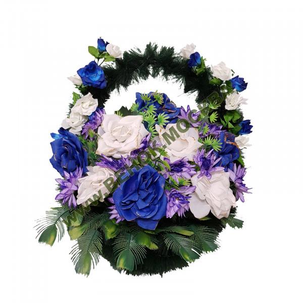 корзина из искусственных цветов СТАНДАРТНАЯ КРС-09