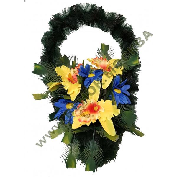 корзина из искусственных цветов СТАНДАРТНАЯ КРС-14