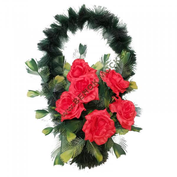 корзина из искусственных цветов СТАНДАРТНАЯ КРС-16