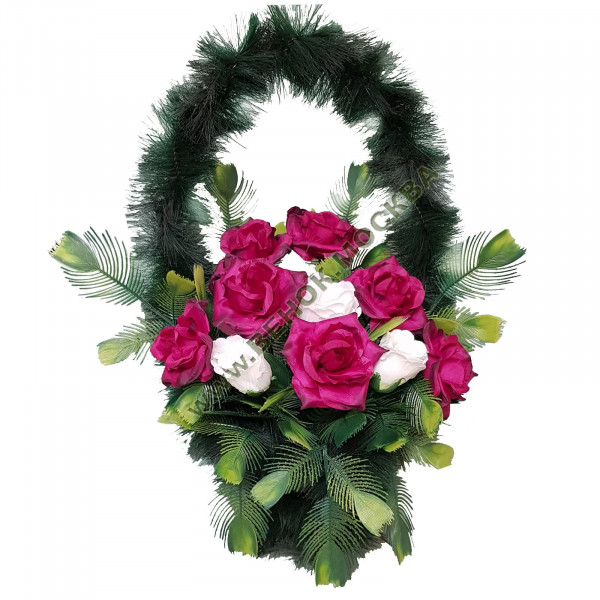 корзина из искусственных цветов СТАНДАРТНАЯ КРС-17