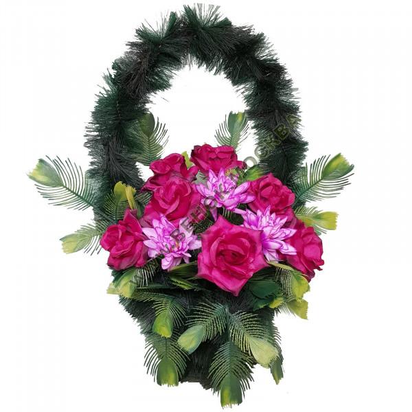 корзина из искусственных цветов СТАНДАРТНАЯ КРС-18