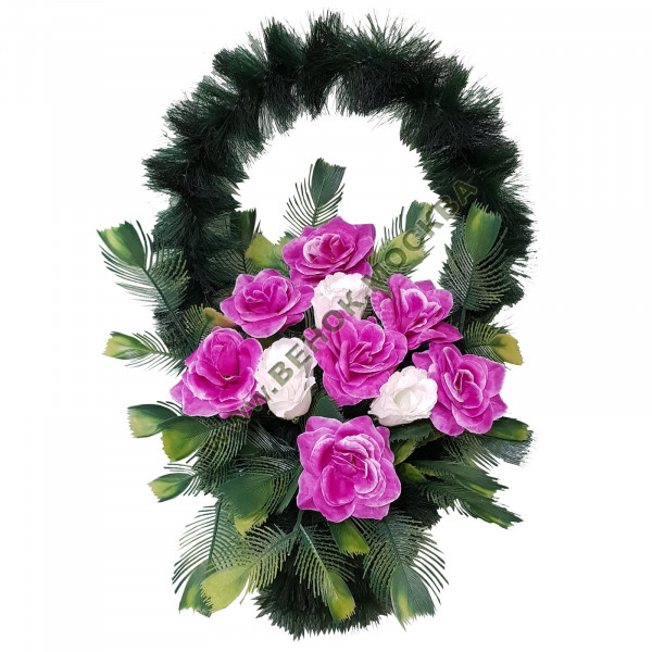 корзина из искусственных цветов СТАНДАРТНАЯ КРС-19