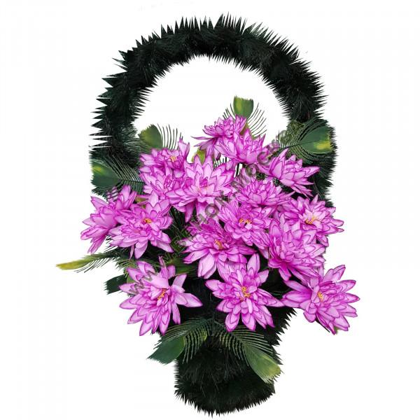 корзина из искусственных цветов СТАНДАРТНАЯ КРС-23