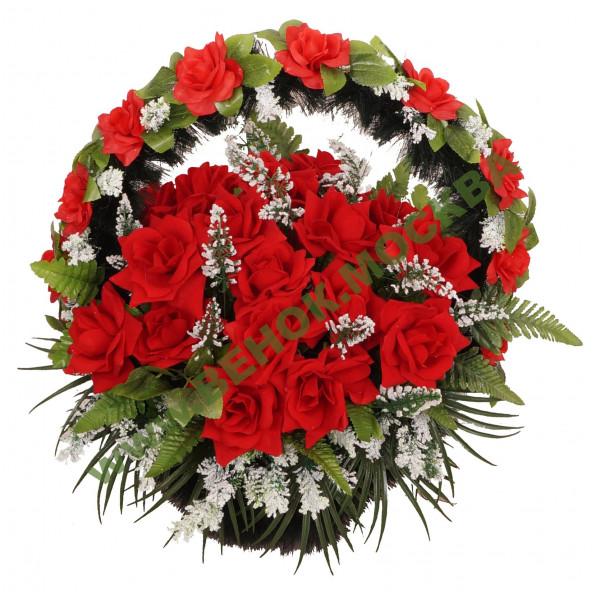 корзина из искусственных цветов ЗАКАЗ КРЗ-02