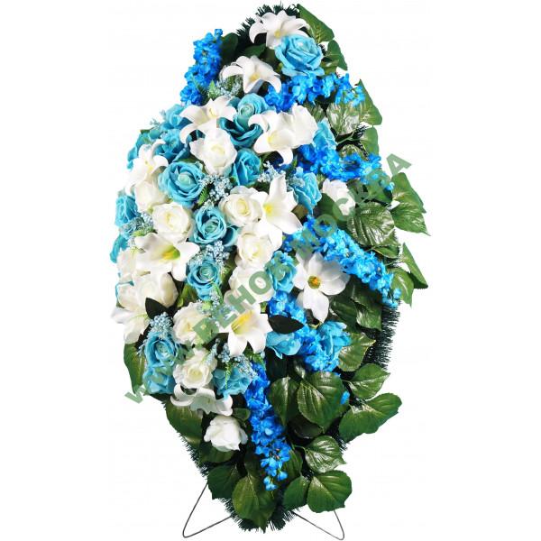 венок из искусственных цветов АВТОРСКИЙ ВИА-024