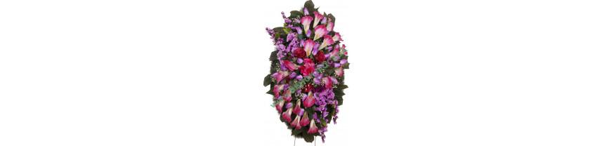 Эксклюзивные венки из искусственных цветов на заказ