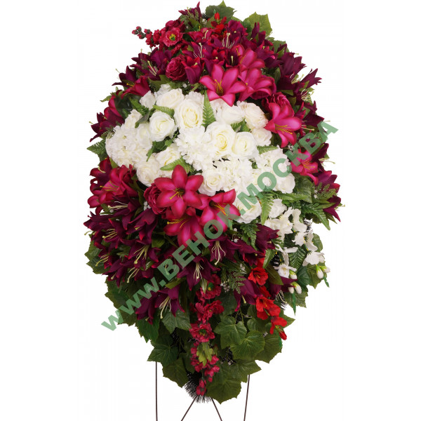 венок из искусственных цветов АВТОРСКИЙ ВИА-029