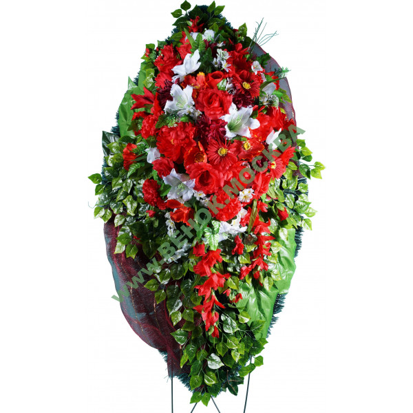 венок из искусственных цветов АВТОРСКИЙ ВИА-031