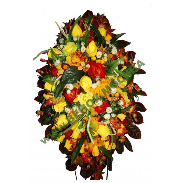 венок из искусственных цветов АВТОРСКИЙ ВИА-034