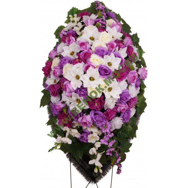 венок из искусственных цветов АВТОРСКИЙ ВИА-035