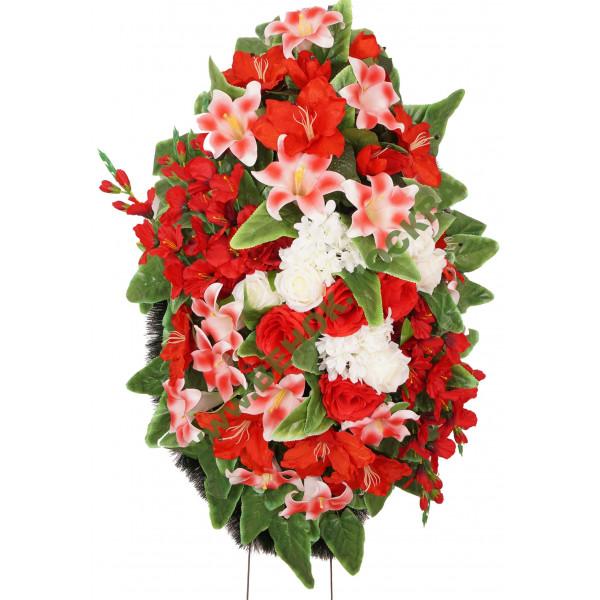 венок из искусственных цветов АВТОРСКИЙ ВИА-039