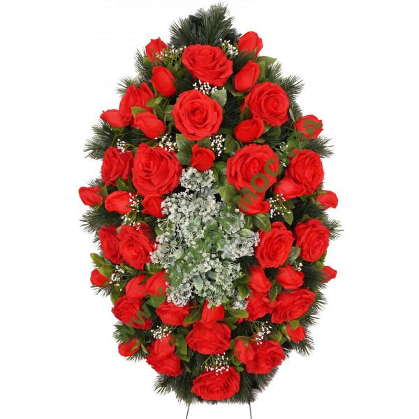 венок из искусственных цветов АВТОРСКИЙ ВИА-040