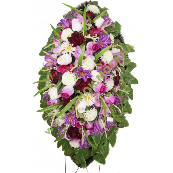 венок из искусственных цветов АВТОРСКИЙ ВИА-046