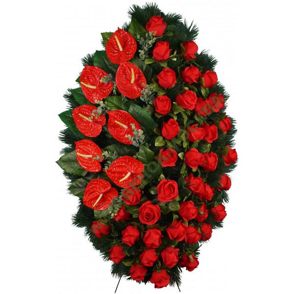венок из искусственных цветов АВТОРСКИЙ ВИА-083