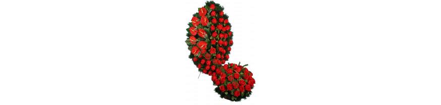 Купить похоронные искусственные венки и корзины (комплекты)
