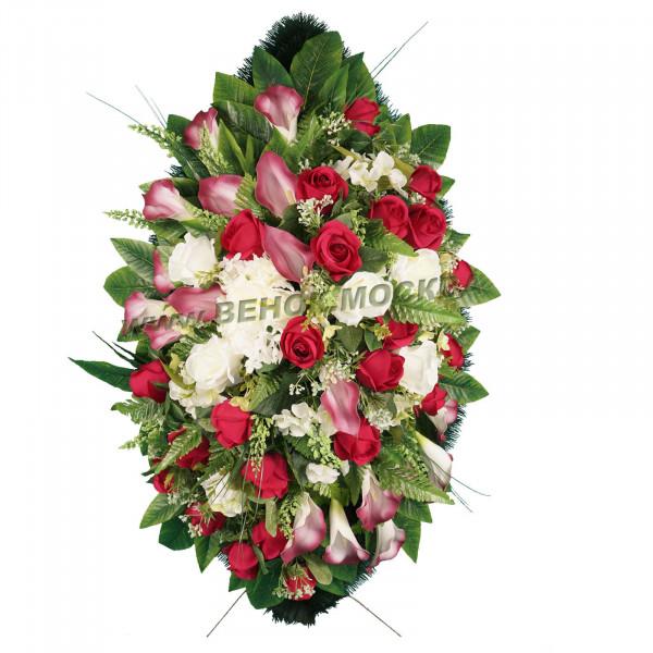 венок из искусственных цветов АВТОРСКИЙ ВИА-093