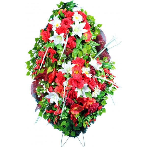 венок из искусственных цветов ЭЛИТ ВИЭ-012