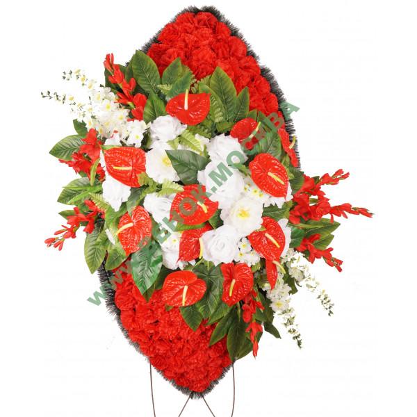 венок из искусственных цветов ЭЛИТ ВИЭ-019