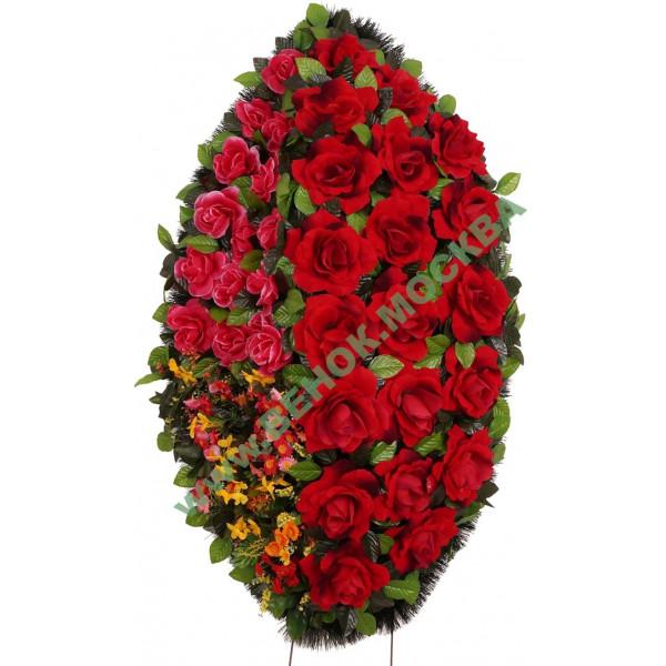венок из искусственных цветов ЭЛИТ ВИЭ-024