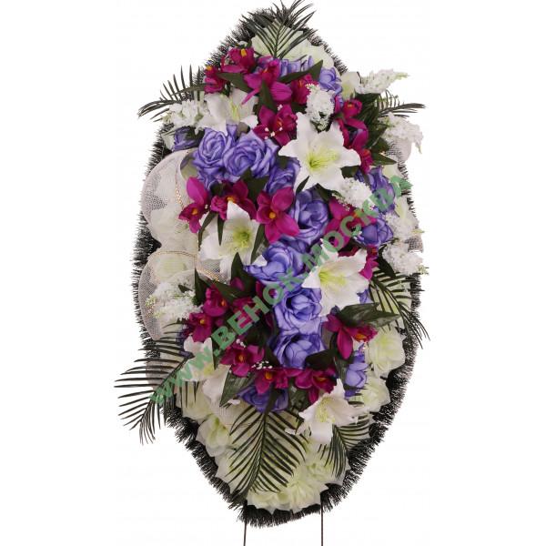 венок из искусственных цветов ЭЛИТ ВИЭ-030