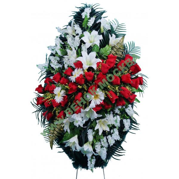 венок из искусственных цветов ЭЛИТ ВИЭ-034