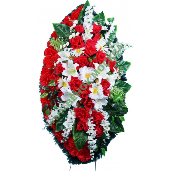 венок из искусственных цветов ЭЛИТ ВИЭ-036